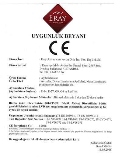 Eray Aydınlatma JC24-16 Uzun Tekli Avize Renkli